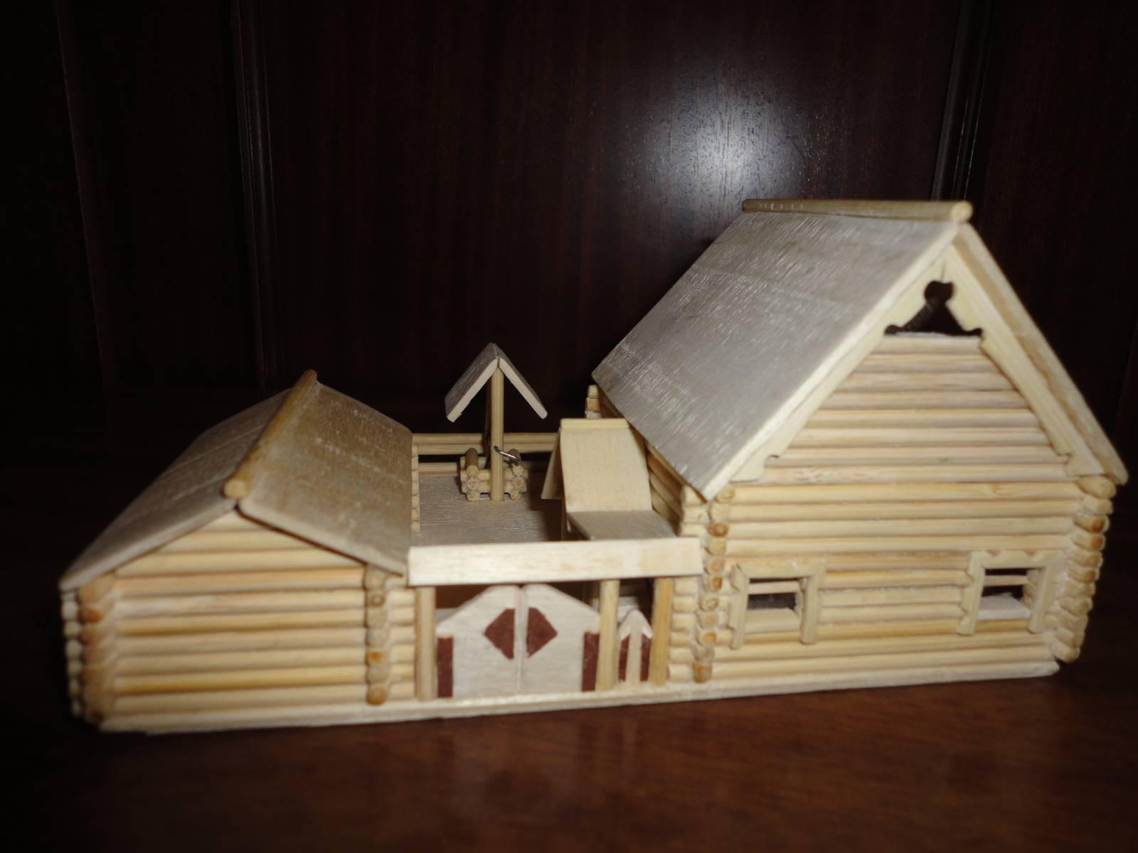 Деревянные поделки домики 98